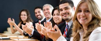 conference room applauding for you